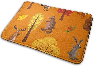 """Autumn Forest Cute Animals Doormat Non Slip Indoor/Outdoor Door Mat Floor Mat Home Decor, Entrance Rug Rubber Backing Large 23.6""""(L) x 15.8""""(W)"""