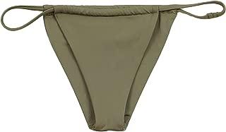 ToBeInStyle Women's Seamless Adjustable String Cheeky Bikini Bottom