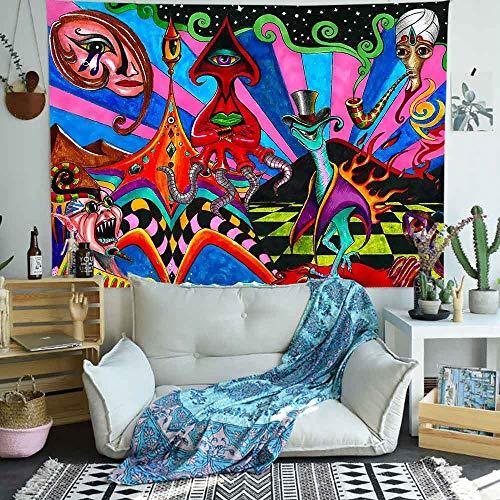 AJleil Puzzle 1000 Pezzi Pittura Multicolore della Decorazione di Arte psichedelica del Fiore Puzzle 1000 Pezzi Animali Divertente Gioco per Famiglie per Bambini adulti50x75cm(20x30inch)