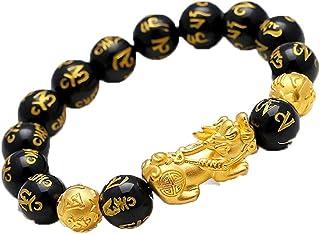 Unisex feng shui armband welvaart armband, handgesneden stenen armbanden trekken rijkdom geld aan Feng Shui sieraden, trek...