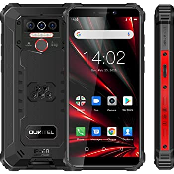 4G Teléfono Móvil Resistente OUKITEL WP5 Pro, Batería de 8000 mAh, Android 10 Smartphone Impermeable IP68, 4 Luces de Flash LED, Helio A25 4GB + 64GB, 13MP + 2MP + 2MP, Reconocimiento Facial Negro: Amazon.es: Electrónica