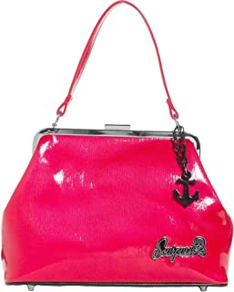 Brand - Raspberry Betsy Purse with Black Anchor Charm