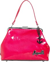Sourpuss Brand - Raspberry Betsy Purse with Black Anchor Charm
