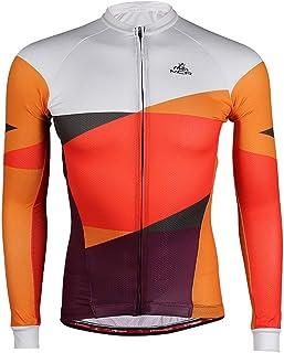 a maniche lunghe Giacca da ciclismo da uomo mountain bike per mountain bike abbigliamento da ciclismo bici da strada WAZA