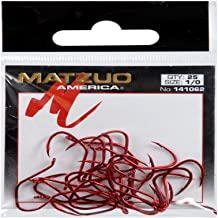 Matzuo Sickle Octopus Hook (Pack of 25), Red Chrome, 1/0