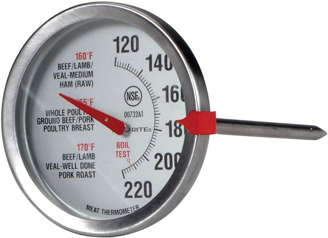 AcuRite 00732A2 Stainless Steel Oven Safe Meat Thermometer