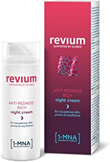 REVIUM ROSACEA - ANTI-REDNESS RICH NIGHT CREAM WITH 1-MNA MOLECULE CHLORELLA VULGARIS GREEN ALGAE EXTRACT ACEROLA FRIUT...