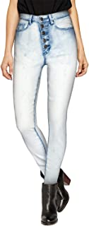 Womens Super Stretch Comfort High Waist High Rise Skinny Jeans