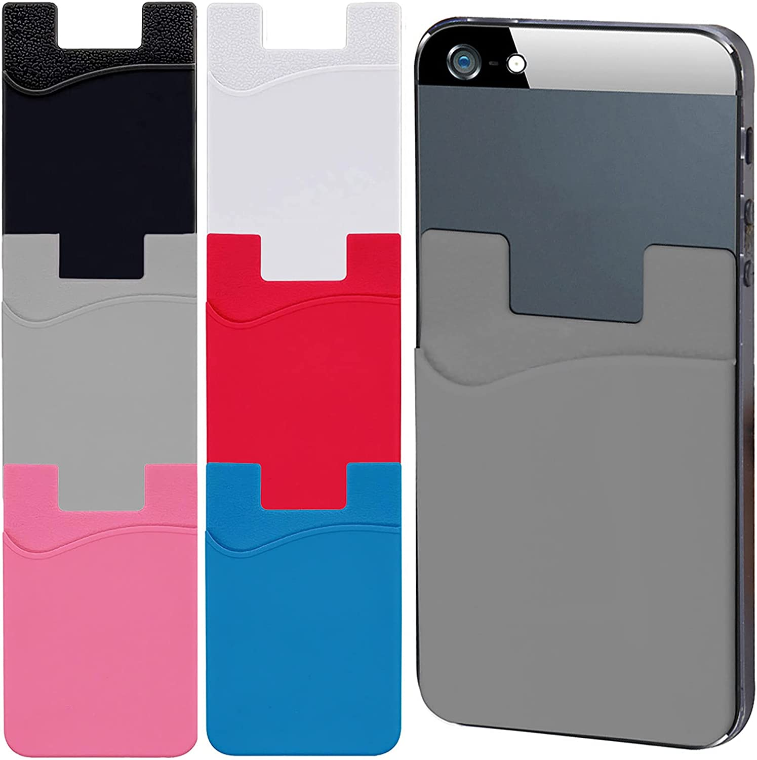 Special Campaign QYHOO Phone Card Holder Cell Shipping included Ad Wallet 6 Pack Silicone