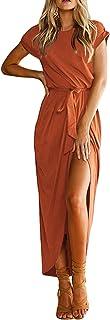 YOINS Donna Vestito Lungo Abito Maxi Abiti Scollo a V Lunga Vestiti Casuale da Donna Estate Abiti da Spiaggia Cocktail Sera
