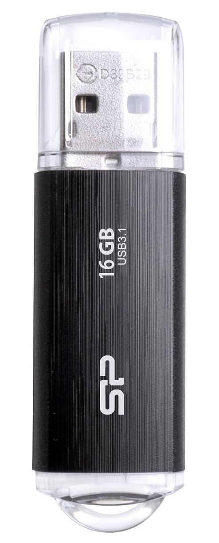 認知列車建てるシリコンパワー USBメモリ 16GB USB3.1 & USB3.0 ヘアライン仕上げ 永久保証 Blaze B02 SP016GBUF3B02V1K