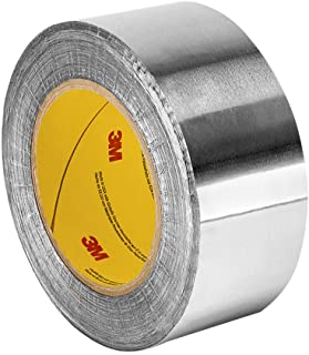 3M 421 Dark Silver Lead Foil Tape  - 2 in. x 5 yds. Roll, Conformable Tape, Rubber Adhesive. Electrically and Thermally Conductive Tape [1 Roll]