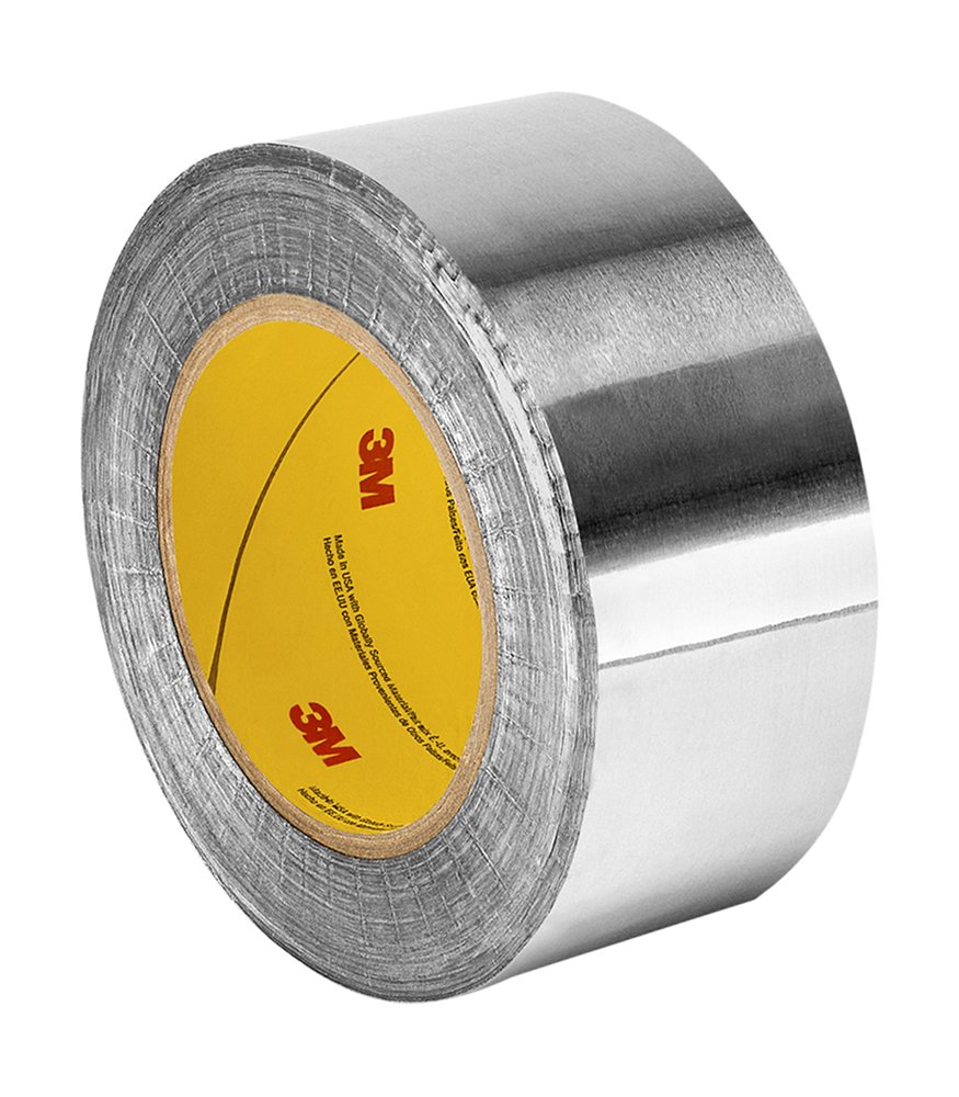 0.25 Width 18 Yd Length TapeCase Silver Aluminum Foil Tape with Conductive Acrylic Adhesive Converted from 3M 1170 Roll