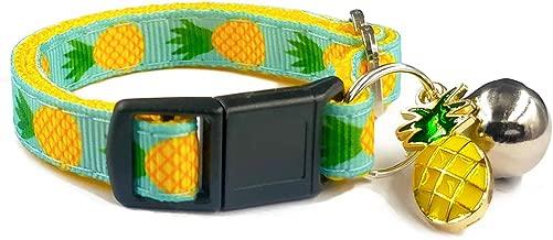 waaag Pet Collars Tropical Pineapple Cat Collar and Dog Collar