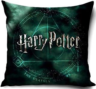 PawPatrol Nickelodoen Funda de cojín para niños con estampado por ambos lados, sin relleno, a elegir, 40 x 40 cm (Harry Potter)