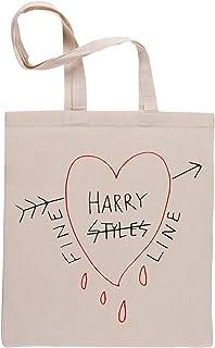 Fine Line Heart Beige Riutilizzabile Borse Per La Spesa Reusable Beige Shopping Bag