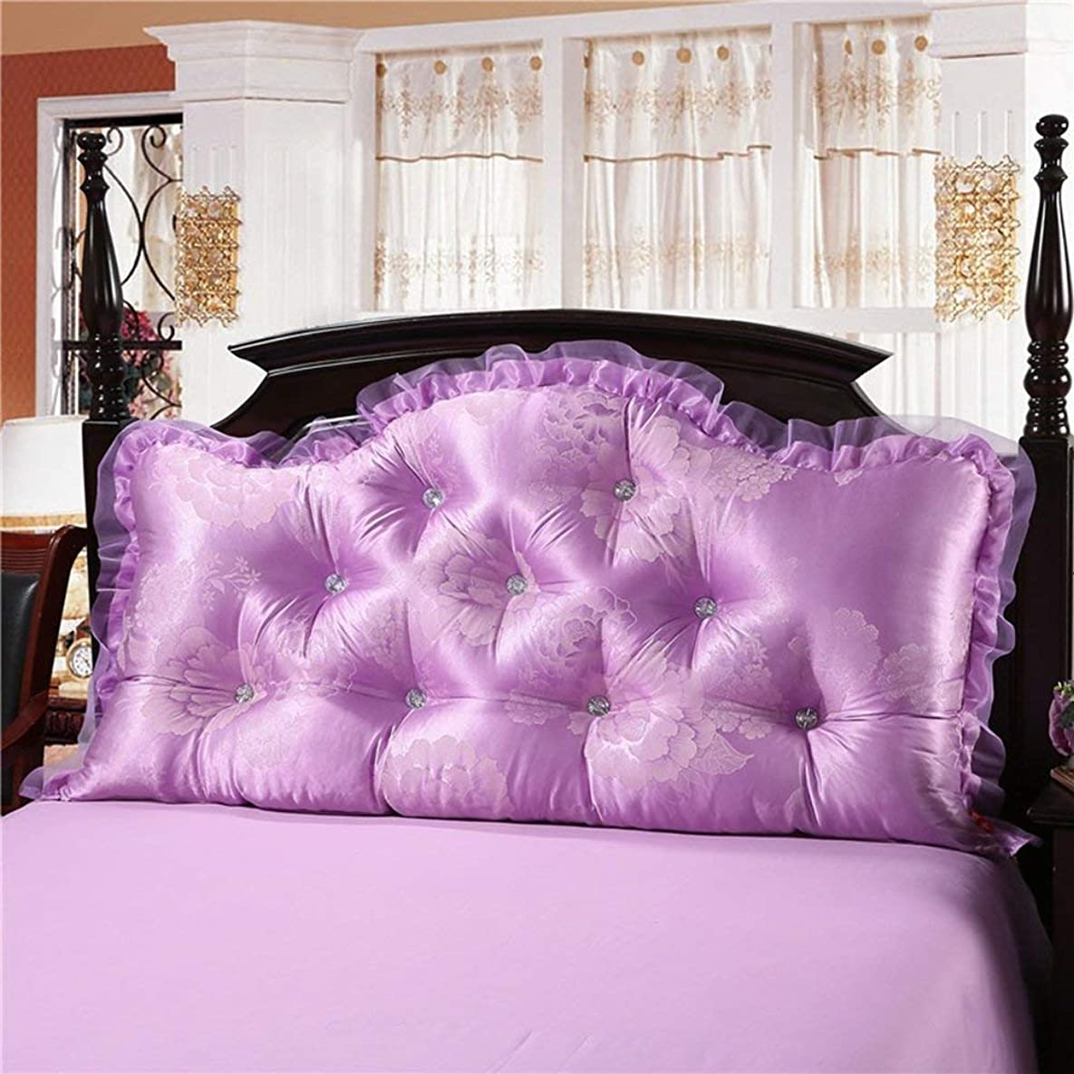 ピーブ領収書達成する2J-QingYun Trade ヘッドボードクッションソフトベッド枕シングルまたはダブルソファ大型背もたれレースウエストパッド (Color : #5, サイズ : 180x70x20cm)