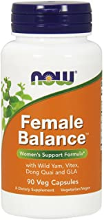 NOW Supplements, Female Balance with Wild Yam, Vitex, Dong Quai, GLA, Vitamin B-6 and Folate, 90 Capsules