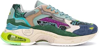 Luxury Fashion   Premiata Women SHARKYDVAR0041D Green Leather Sneakers   Spring-summer 20
