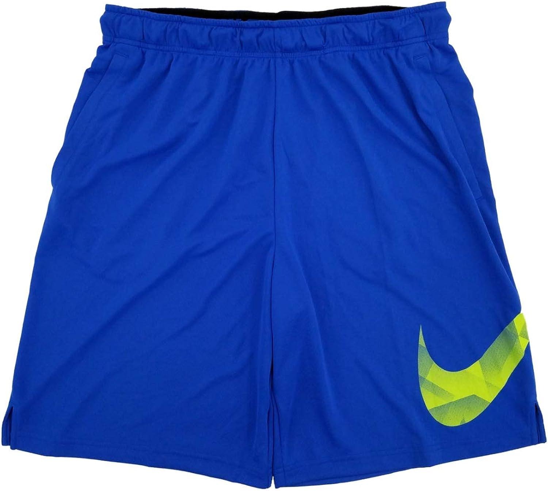 Nike Mens Big & Tall Blue & Green Dri-Fit Athletic Training Shorts