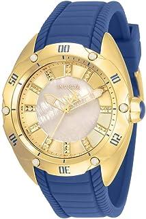 ساعة انفيكتا للنساء فينوم ستانلس ستيل كوارتز مع حزام من السيليكون، ازرق، 21 (33329)