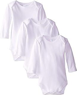 SpaSilk Unisex-Baby Newborn 3-Pack Long Sleeve Lap Shoulder Bodysuit