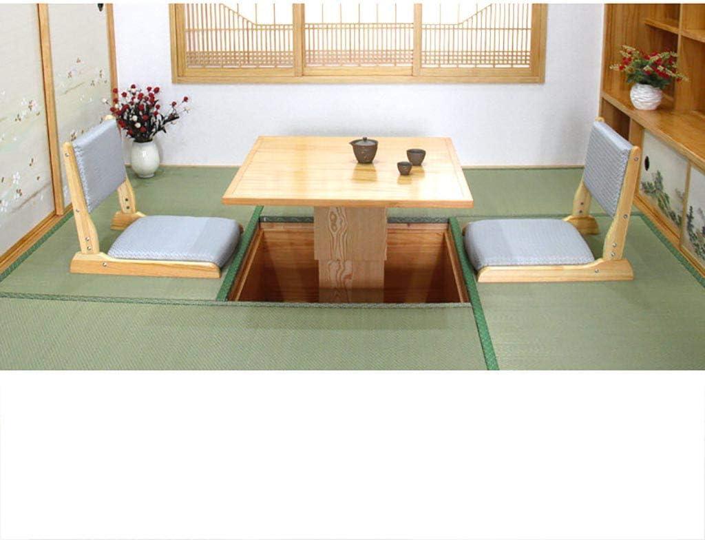 Chaise sur pied Fauteuil Chaise en bois massif de style japonais Assise sans jambes Lit Tatami (Couleur : E) K