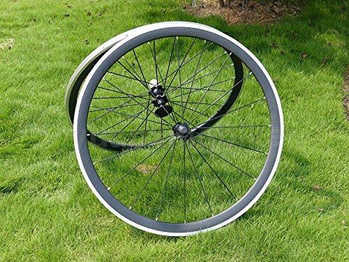 Full Carbon 3K Mate Bicicleta de carretera Clincher Wheel Rim Side de freno de aleación de 38mm Ancho 23mm Toray Llantas de carbono para Campagnolo