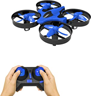 Mini Drone for Kids and Adults RC Nano Training Quadcopter Indoor Small Helicopter Toys with 3D Flip, Headless Mode, One Key Return, Speed Adjustment, Hovering and LED Lights for Boys and Girls, Blue