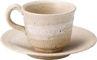 丸伊製陶 伊賀焼 へちもん コーヒー碗皿 白樺 日本製 クリーム MR-3-3267 240ml