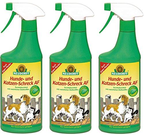 3 x 500 ml Neudorff Hunde- und Katzen-Schreck AF, Anwendungsfertig