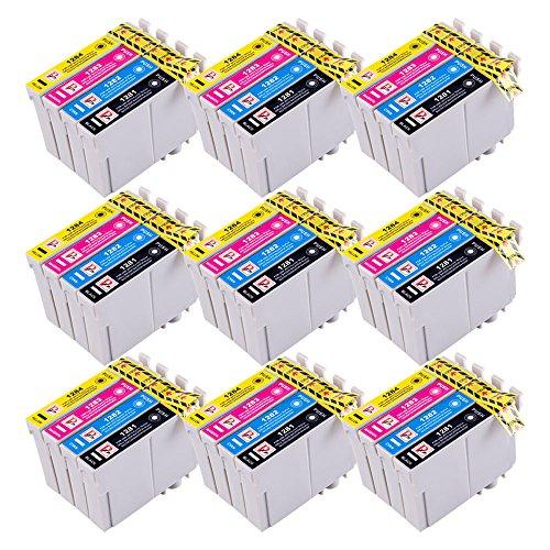 PerfectPrint - 36 PerfectPrint Tinta Cartucho compatible Reemplazar T1281 T1282 T1283 T1284 (T1285) para Epson Stylus S22 SX125 SX130 SX420W SX425W SX445W BX305F BX305FW SX230 SX235W SX445W SX435W SX430W SX438W Impresoras SX440W