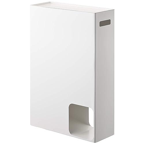 YAMAZAKI home Plate Toilet Paper Stocker – Bathroom Storage Organizer Dispenser