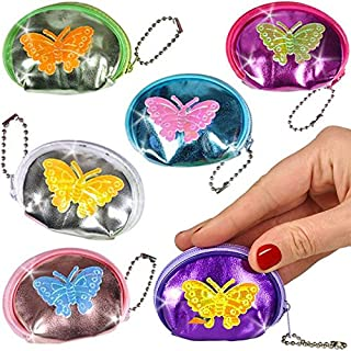 German Trendseller® - 12 x Kinder Geldbörsen Schmetterlinge NEU┃ Mitgebsel ┃ Portmonee ┃ Kindergeburtstag ┃ 12 Stück