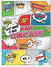 Blank Comic Book Just make it Real: Check Pattern in Look Inside feature! - Large (8.5 x 11 inches) - 120  Sketchbook Paper – 60 Sheets -- Great Idea ... Comics on your own. Explore your fantasy.