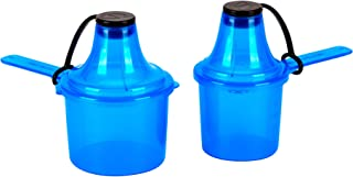 The Scoopie Powder Supplement Container | Protein Multi Pack of 2, On-The-Go Scoop, and Funnel | Shaker Bottle Accessories - (60cc, 90cc, Blue)