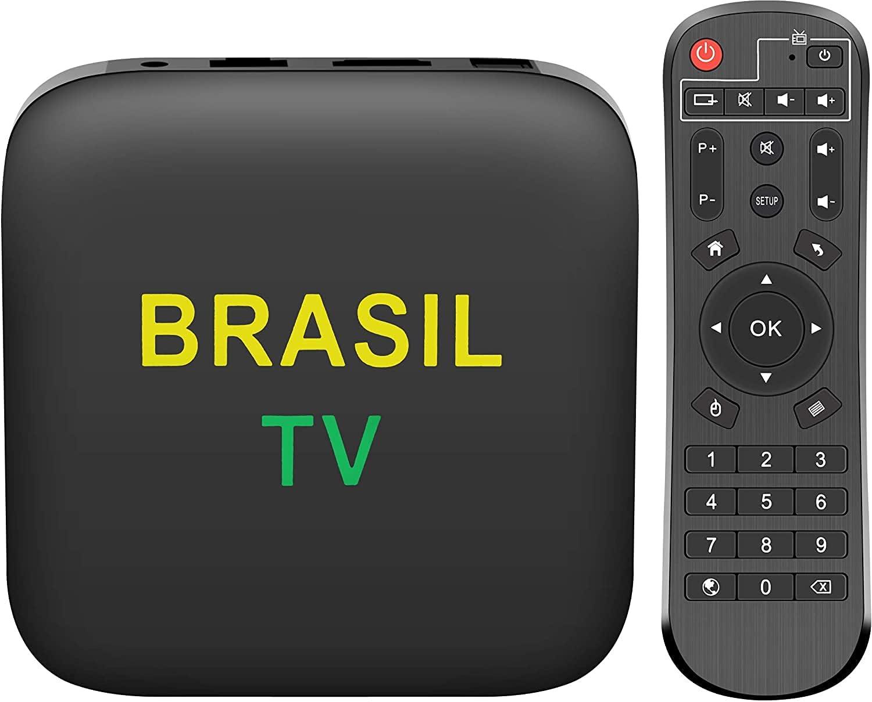 2021 Brazil IPTV New Version Brazilian TV Box 2+16GB HDMI Ultra HD USB Opt Duo Band WiFi