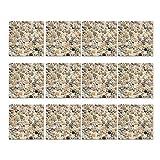 Mousyee Azulejos Adhesivos Pvc, Azulejos Adhesivos 20x20, 12 Piezas Autoadhesivas Impermeable PVC...