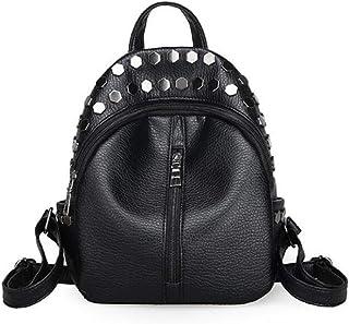 Women Kids Mini Rivets Waterproof Leather Backpack Casual Daypack Shoulder Bag