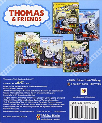 Thomas & Friends Little Golden Book Library (Thomas & Friends): Thomas and the Great Discovery; Hero of the Rails; Misty Island Rescue; Day of the Diesels; Blue Mountain Mystery