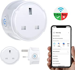 MoKo Smart Plug WiFi Outlet, 10A Mini Smart Socket Works with Alexa Echo Google Home IFTTT, Wireless Voice Remote Control with Timer Schedule Function, Smart Life APP Control, No Hub Required, White