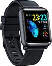 """Smart Watch for Android & iOS Phone, 1.4"""" Full Touch Colorful Screen with Heart Rate Monitor, Waterproof Smart Tracker with ECG and PPG Data Collector, Step Counter   Blood Pressure"""