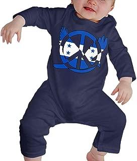 Infant Baby Boy Girl Honduras Flag Peace Sign Symbol Cute Romper Coverall Bodysuit Pajamas