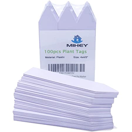 300 Pcs 5 Colors 2X10CM Plastic Waterproof/Nursery Garden Stake Tags Plant Seed Garden Labels Pot Marker