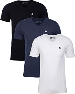 Sponsored Ad - INTO THE AM Men's V-Neck Fitted T-Shirts 3 Pack - Short Sleeve Casual V Neck Multipack