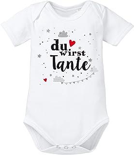 clothinx Baby-Body Bio Geburt Du wirst Tante
