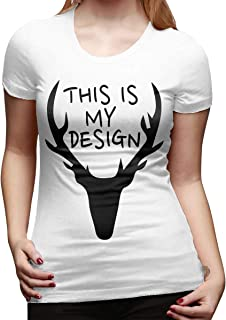 This is My Design A Deer Women's Round Tee Short Sleeved T-Shirt