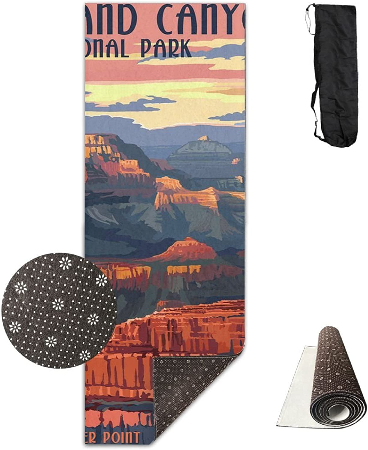 Grand Canyon National Park  Mather Point Sporting Extra Thick Yoga Mat With No Stick Ridge