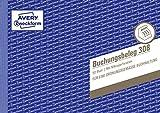 AVERY Zweckform 308 Buchungsbeleg (A5quer, mikroperforiert, von Rechtsexperten geprüft, für Deutschland zur lückenlosen Buchhaltung, mit T-Konto, Buchungstext inkl. Unterschriftenzeile, 50Blatt) weiß
