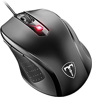 VicTsing Ratón con Cable,4 dpi Adjustable(1000/1600/2400/3200), 6 Botónes, para Oficina, Gaming, PC, Ordenador, Computadora y Portátil